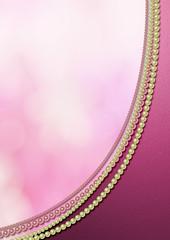 真珠とメタリックな背景