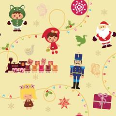 Christmas Cartoon Pattern