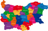 Map of administrative divisions of Bulgaria poster
