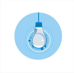 vector illustration light bulb
