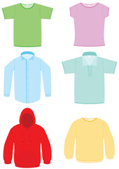 Clothing vector illustration set