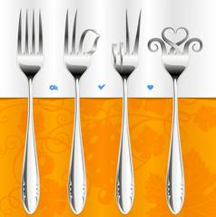 Vector fork gestures