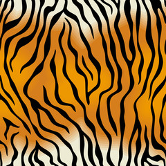 Seamless texture of tiger skin
