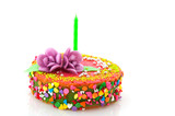 Fancy birthday cake poster