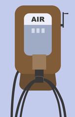 Illustration of a symbol of air pump