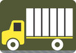 Illustration of a symbol of truck carrying luggage