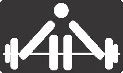 Illustration of a symbol of weightlifter in sports