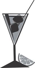 Illustration of a symbol of juice in goblet