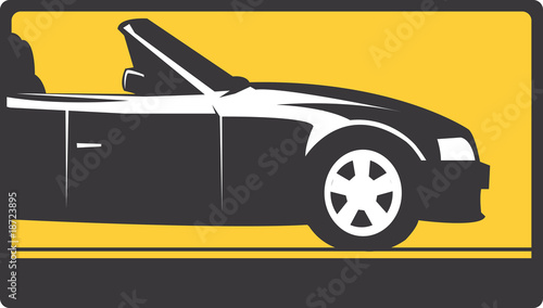 Illustration of a symbol of car in a signboard