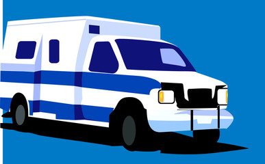 Illustration of a delivery van