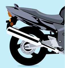 Illustration of a motorbike