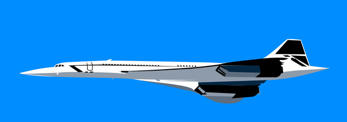 Illustration of an aeroplane in flying