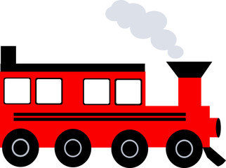 Illustration of an a train with smoke