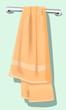 Illustration of a towel in a hanger