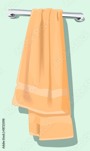 Illustration of a towel in a hanger
