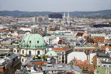 Vienna - outlook from st. Stephen cathedral tower