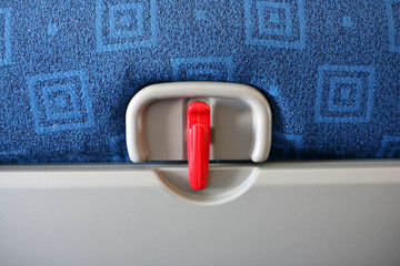 airplane tray table lock