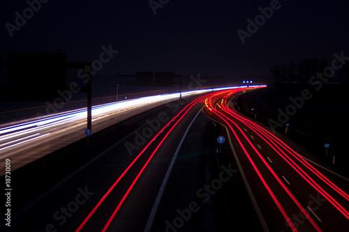 Foto op Aluminium Nacht snelweg road at night