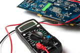 multimeter and microcircuit