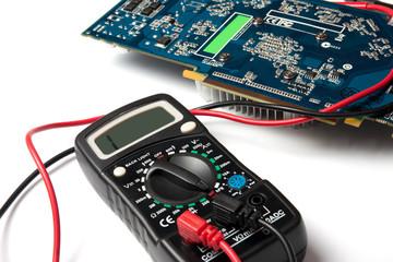 multimeter and microcircuit