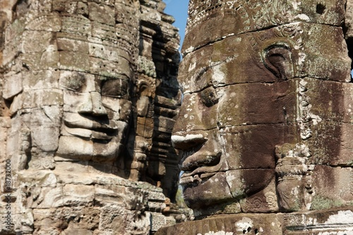 Two Bayon faces
