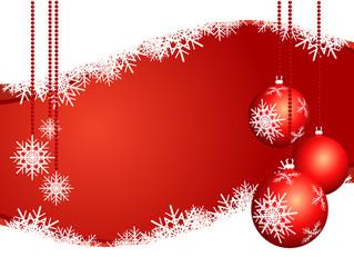 Sfondo natalizio con decorazioni, orizzontale