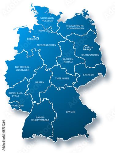 deutschland karte bundesl nder stockfotos und lizenzfreie bilder auf bild 18734264. Black Bedroom Furniture Sets. Home Design Ideas