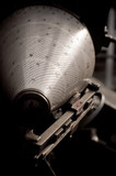 range finder instrument from a WW2 field gun poster