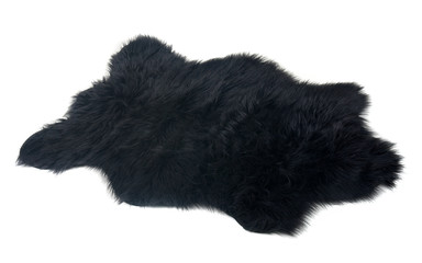 fur carpet over white background