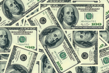 100 dollar banknotes.