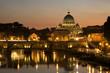 Quadro San Pietro al tramonto - Roma