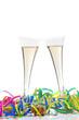 Champagner Gäser bei einer Feier im Karneval
