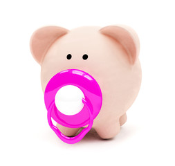 Baby piggybank isolated