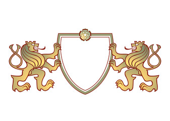2 Löwen Wappen