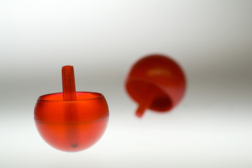 Red Spinning Tops