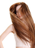 beauty and creative straight long hairs - 18740288