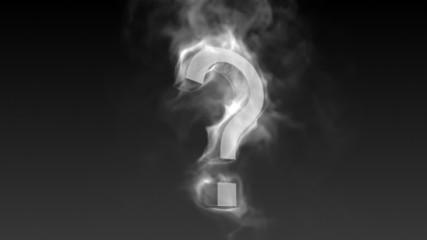 Fragezeichen aus Rauch