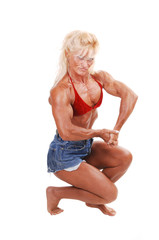 Bodybuilding woman.
