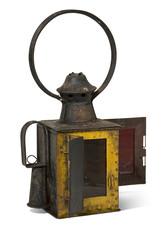 old railroad lamp.Old railroad lamp