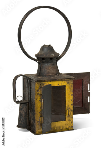 old railroad lamp.Old railroad lamp