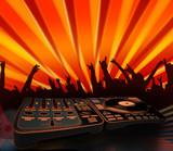 nightclubing - electro music background poster