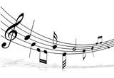 Fototapety sheet music