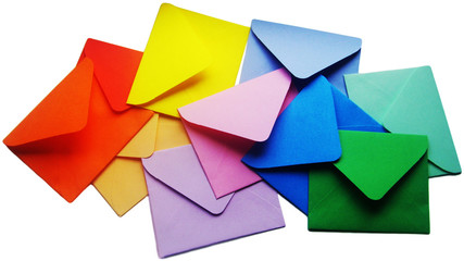 Colored wishes letters