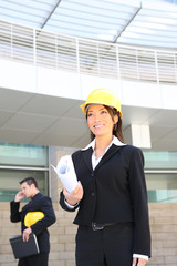 Woman Architect on Construction Site