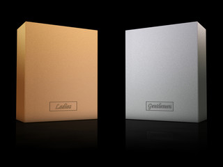 Luxury gold and silver boxes