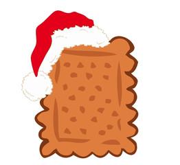 Shortbread with Santa Claus hat