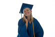 Graduating senior on the phone