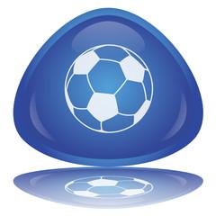 """""""Soccer - Football"""" Button (shiny - blue - vector - reflection)"""