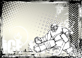 ice hockey pencil background 2