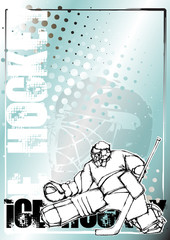 ice hockey pencil poster background
